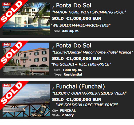Sold Madeira island properties